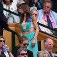 Marion Bartoli dans les tribunes de la finale entre Serena Williams et Angelique Kerber à Wimbledon le 9 juillet 2016.