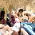 Adriana Lima en vacances sur l'île de Mykonos en Grèce. Le 9 juillet 2016.
