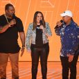 Busta Rhymes, Angie Martinez et Timbaland - VH1 Hip Hop Honors 2016 au David Geffen Hall, au Lincoln Center. New York, le 11 juillet 2016.