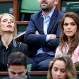 Sylvie Tellier, Iris Mittenaere (Miss France 2016) - People dans les tribunes des internationaux de France de Tennis de Roland Garros le 2 juin 2016. © Dominique Jacovides / Bestimage