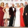 Mary Hart, McKayla Maroney, Daymond John, Mallory Hagan, Katie Stam Irk, Bradley Bayou, Cheryl Burke, Sam Champion - Mallory Hagan, nouvelle Miss America, lors d'une conférence de presse à Las Vegas, le 12 janvier 2013.