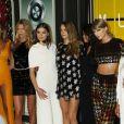 Hailee Steinfeld, Cara Delevingne, Selena Gomez, Taylor Swift, Serayah, Lily Aldridge à la Soirée des MTV Video Music Awards à Los Angeles le 30 aout 2015.