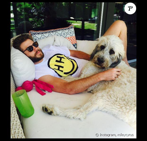 Miley Cyrus a publié une photo de son chéri Liam Hemsworth sur les réseaux sociaux, le 17 juillet 2016