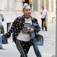 Miley Cyrus quitte les bureaux de Woody Allen à New York le 15 juin 2016.