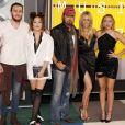 Braison Cyrus, Tish Cyrus, Noah Cyrus, Billy Ray Cyrus et Brandi Glenn Cyrus à la Soirée des MTV Video Music Awards à Los Angeles le 30 aout 2015. © CPA/Bestimage