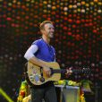 Chris Martin - Coldplay en concert au stade Wembley à Londres. Le 15 juin 2016