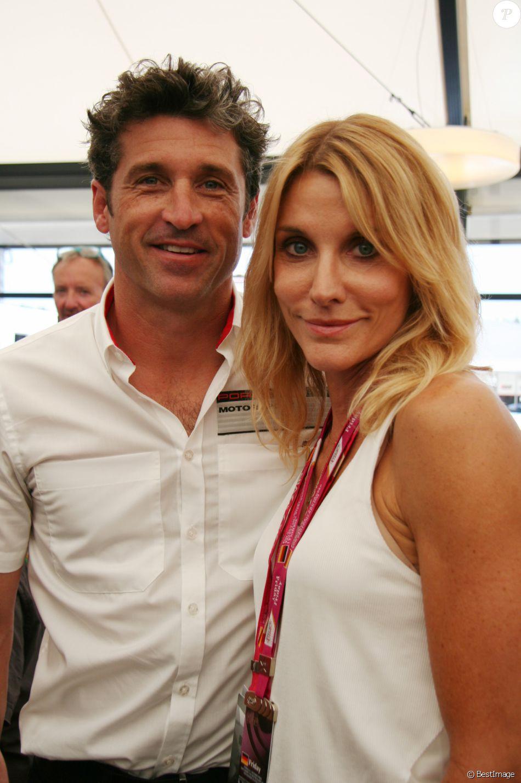 Patrick Dempsey et sa femme Jillian Fink lors de la coupe Porsche pendant le Grand Prix de Formule 1 de Hockenheimring. Le 18 juillet 2014