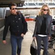 Patrick Dempsey et sa femme Jillian à Los Angeles, le 13 février 2016.