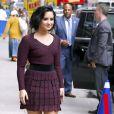 """Demi Lovato et Nick Jonas arrivent à l'enregistrement du """"Late Show """" à New York, le 16 juin 2016."""