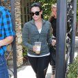 Demi Lovato à la sortie de son bureau à West Hollywood. Le 7 juin 2016