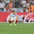 Jamie Vardy après la défaite de l'Angleterre face à l'Islande à l'Euro 2016 le 27 juin à Nice.