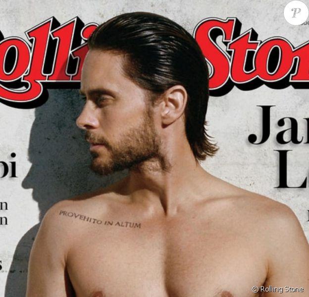 """Jared Leto, 44 ans, torse nu pour le photographe Theo Wenner pour le magazine américain """"Rolling Stone"""", août 2016."""