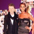 David Bowie et sa femme Iman aux CFDA Fashion Awards à New York le 7 juin 2010