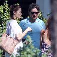 Stephanie Seymour et son mari Peter Brant dans les rues de Maui, pendant ses vacances. Le 20 décembre 2014