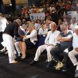Michèle Tabarot (Maire du Cannet) Jean-Paul Belmondo, Jeff Domenech et Charles Gérard - Championnat International WBA Super-Welters - Le Cannet le 30 juillet 2016 © Jlppa / Bestimage