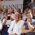 Jean-Paul Belmondo et Jeff Domenech - Championnat International WBA Super-Welters - Le Cannet le 30 juillet 2016 © Jlppa / Bestimage