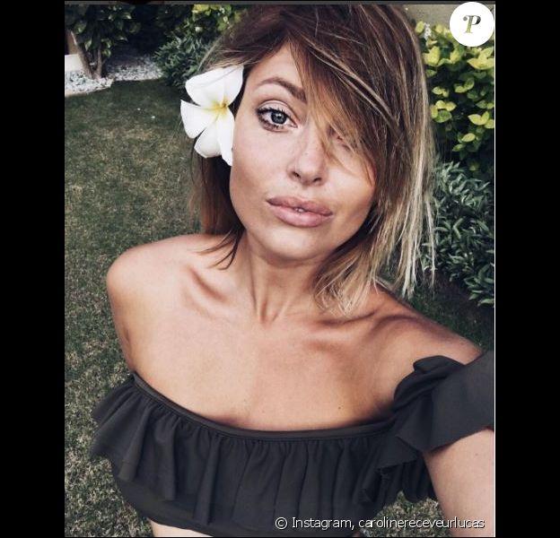 Caroline Receveur fait la moue sur Instagram, dimanche 31 juillet 2016