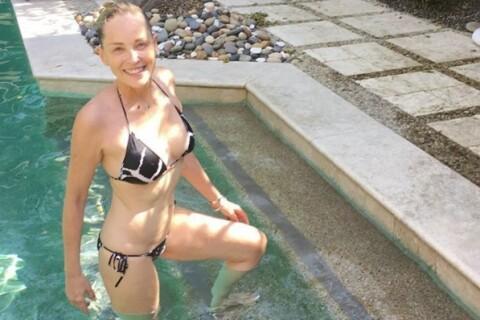 Sharon Stone : 58 ans et sublime en bikini, une naïade sexy qui attire l'oeil