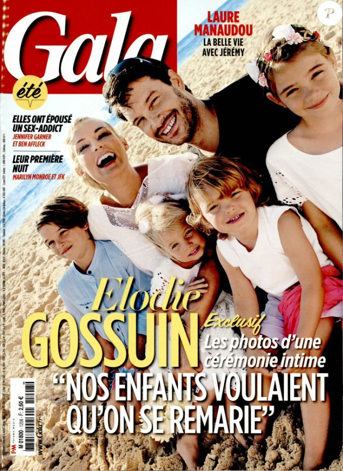 Elodie gossuin avec son mari bertrand et leurs enfants en couverture de gala le 3 ao t 2016 - Elodie gossuin et ses enfants ...