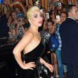 La chanteuse Lady Gaga arrivant au 90e anniversaire de Tony Bennett à New York, le 3 août 2016.