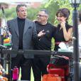 Exclusif - John Travolta et sa femme Kelly Preston sur le tournage de 'Gotti: In The Shadow Of My Father' à Cincinnati dans l'état de Ohio. Le 28 juillet 2016