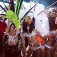 Chanel Iman et ses amies à Saint James, La Barbade. Août 2016.