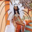 Chanel Iman habillée pour le Grand Kadooment de Crop Over. Saint James, La Barbade. Août 2016.