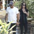 Exclusif - Megan Fox enceinte et son mari Brian Austin Green à la sortie du restaurant Geoffrey à Malibu, Californie, Etats-Unis, le 5 juillet 2016.