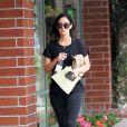 Exclusif - Megan Fox enceinte à la sortie d'un centre médical à Beverly Hills, le 13 mai 2016