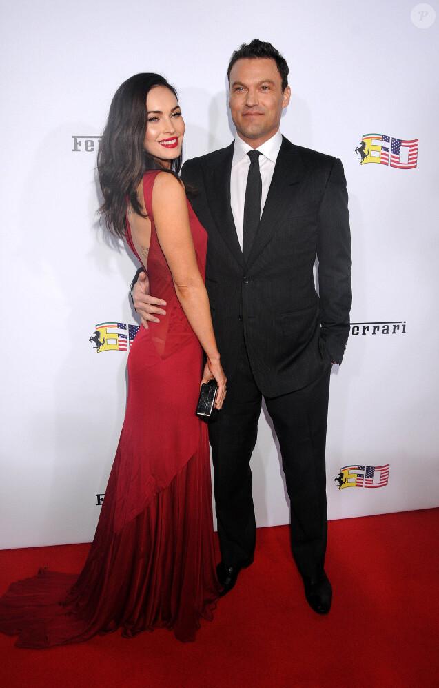 Megan Fox et son mari Brian Austin Green à la Soirée pour célébrer les 60 ans de la marque Ferrari aux Etats-Unis, à Beverly Hills, le 11 octobre 2014