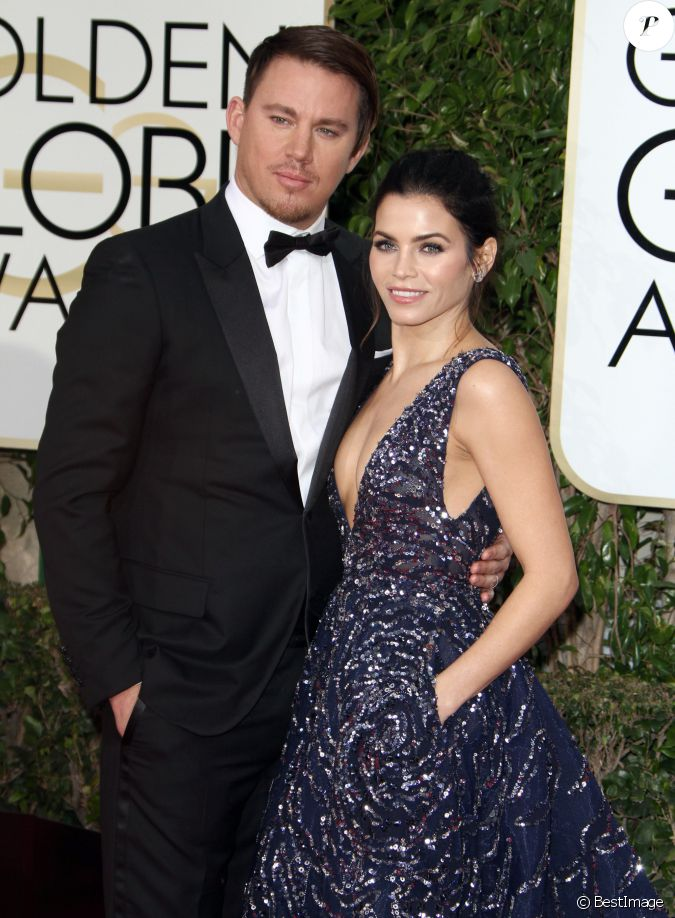 channing tatum habill en dior homme et sa femme jenna dewan 73e c r monie annuelle des. Black Bedroom Furniture Sets. Home Design Ideas