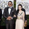 Terrence Howard et Mira Pak lors de la 73ème cérémonie annuelle des Golden Globe Awards à Beverly Hills, le 10 janvier 2016