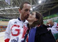 Bradley Wiggins : Champion olympique de la grimace devant sa femme Catherine