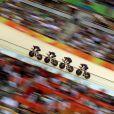 Ed Clancy, Steven Burke, Owain Doull et Sir Bradley Wiggins ont remporté la poursuite par équipe aux Jeux olympiques de Rio de Janeiro le 12 août 2016. © David Davies/PA Wire/ABACAPRESS.COM