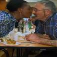 """Céline embrasse Paulo - """"L'amour est dans le pré 2016"""" sur M6. Le 29 août 2016."""