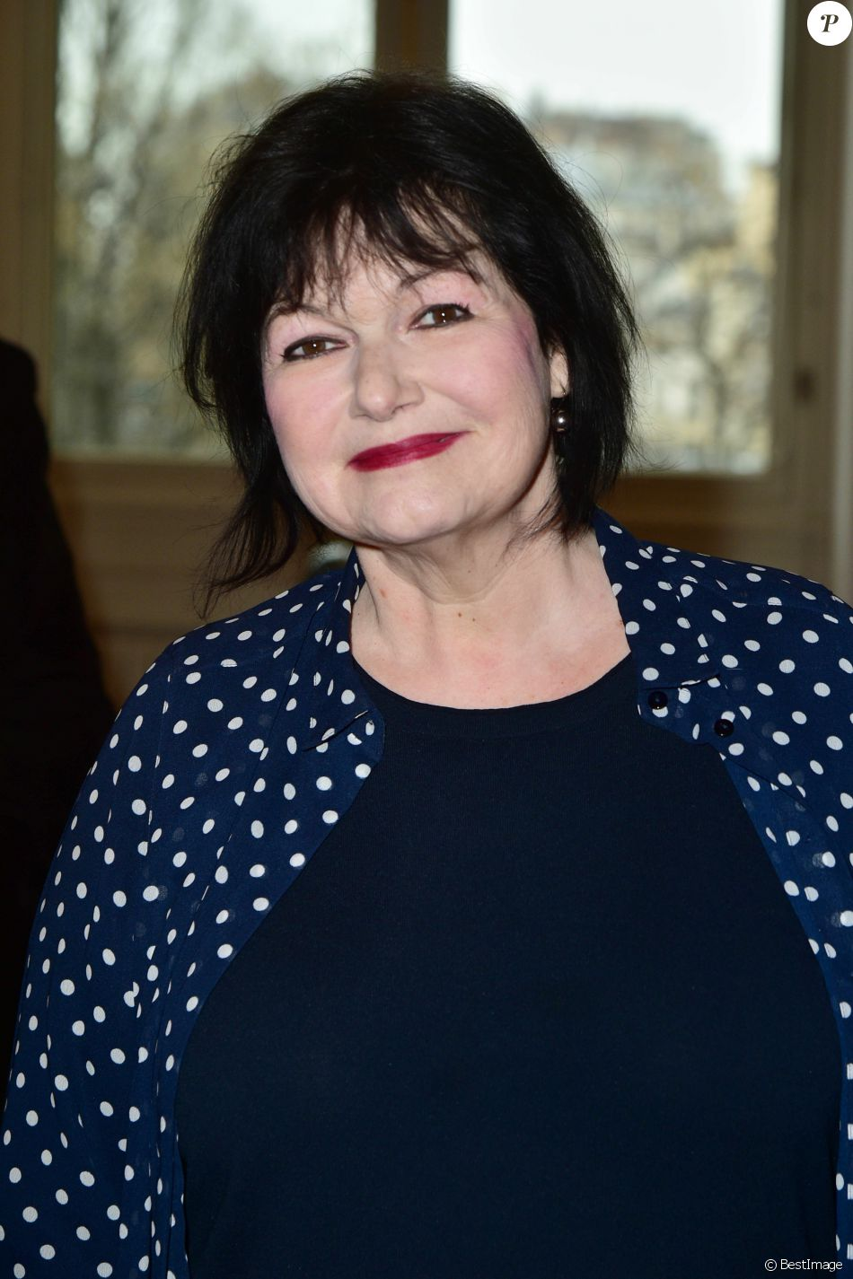 Maurane - Remise de la médaille Grand Vermeil de la Ville de Paris dans les salons de la Mairie à Michel Legrand à Paris. Le 22 janvier 2015