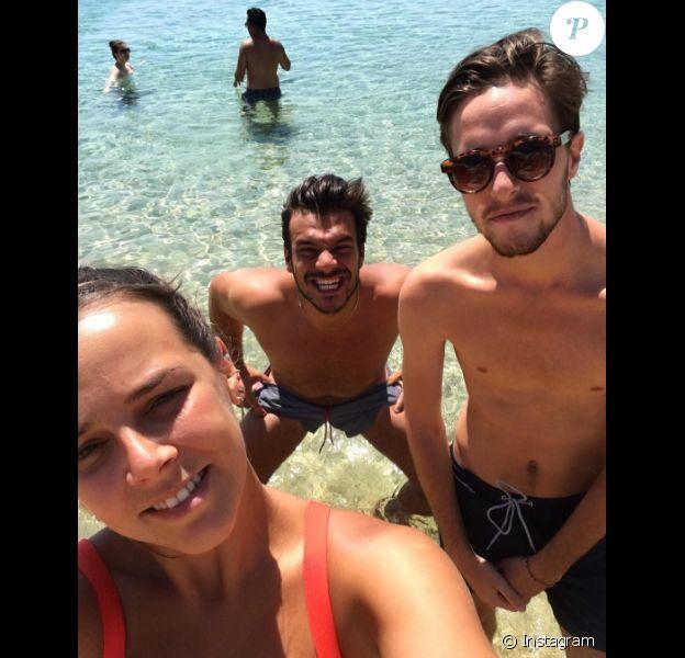 Pauline Ducruet au dernier jour de ses vacances à Mykonos mi-août 2016, photo Instagram.