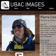 """Pierre Colonge (page bio sur le site d'Ubac Images) a trouvé la mort à 20 ans le 4 septembre 2016 lors d'une randonnée à ski """"dans le ciel chilien"""", première étape du projet """"Le Monde à Ski"""" qu'il menait avec son frère Julien Colonge. Capture d'écran du site d'Ubac Images, la société des deux frères haut-savoyards consacrée à leur passion."""