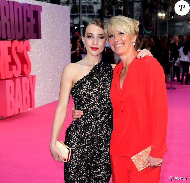 """Emma Thompson et sa fille Gaia- Avant-première mondiale du film """"Bridget Jones Baby"""" au cinéma Odeon Leicester Square à Londres, Royaume Uni, le 5 septembre 2016."""