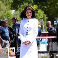 """Katie Holmes sur le tournage de la série """"The Kennedys: After Camelot"""" à Toronto, le 16 juin 2016."""
