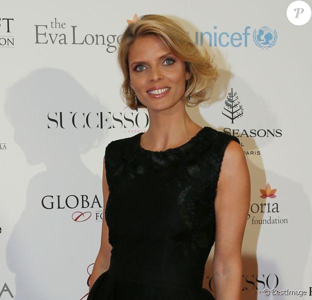 Sylvie Tellier - Photocall des célébrités à la 7ème Édition du Global Gift Gala au Four Seasons Hotel George V à Paris le 9 mai 2016 © Marc Ausset-Lacroix / Bestimage