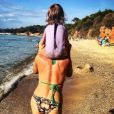 Sylvie Tellier le 15 août 2016 sur l'île de Porquerolles.