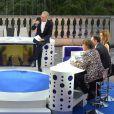 """Exclusif - Laurent Ruquier et Léa Salamé à l'enregistrement de l'émission """"On n'est pas couché"""" à la Villa Domergue lors du 69ème Festival International du Film de Cannes, le 18 mai 2016"""