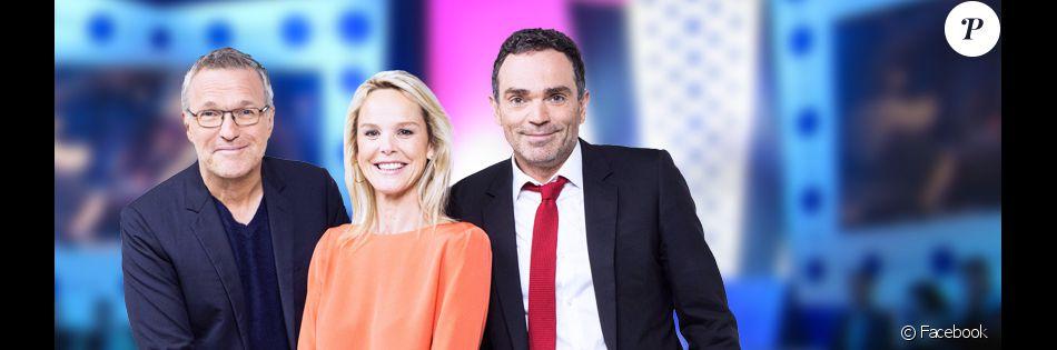 Laurent Ruquier, Vanessa Burgraff et Yann Moix dans la nouvelle saison de l'émission On n'est pas couché