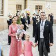 La princesse Victoria, le prince Daniel de Suède et leurs enfants le prince Oscar et la princesse Estelle - Baptême du prince Alexander de Suède au palais Drottningholm à Stockholm le 9 septembre 2016.  Prince Carl Philip, princess Sofia, prince Alexander Prince Alexanders christening at Drottningholm Palace Church, Stockholm, Sweden, 2016-09-0909/09/2016 - Stockholm