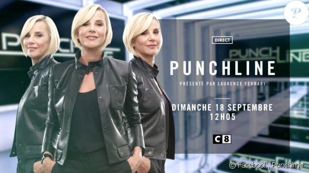 """""""Punchline"""", la nouvelle émission politique de Laurence Ferrari sur C8 à partir du dimanche 18 septembre 2016 à 12h05."""