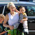Gwen Stefani emmène ses enfants Kingston, Zuma Rossdale et Apollo à l'église à Los Angeles, le 5 juin 2016 © CPA/Bestimage