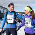 Pippa Middleton et James Matthews lors de la course de ski de fond Birkebeiner à Lillehammer le 19 mars 2016