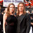 "Angelina Jolie, Brad Pitt - People a la premiere du film ""World War Z"" a Londres, le 2 juin 2013."