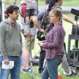 Charlize Theron et Ron Livingston - Charlize Theron a pris du poids pour le tournage du film Tully' à Vancouver, le 26 septembre 2016